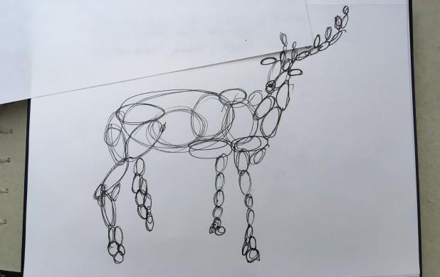 Tegneøvelse 2: Tegn et dyr med cirkler og ovaler