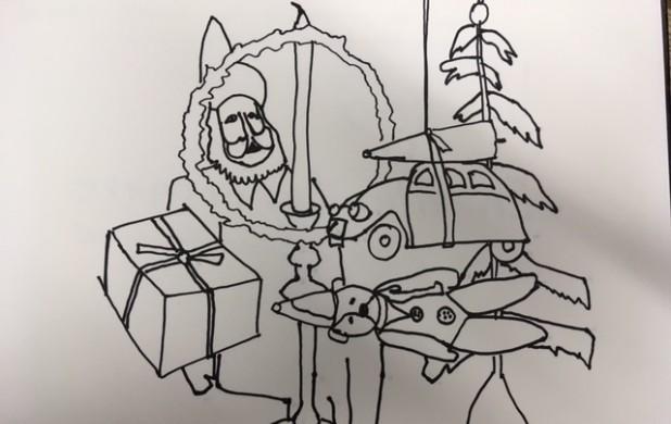 Tegneøvelse 4: Tegn en julekollage